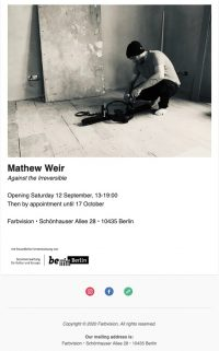 Mathew Weir: Against the Irreversible